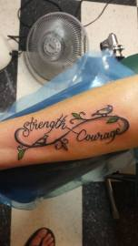 Infinity with Strength and Courage....sounds good to us