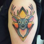 Diamond Deer Head