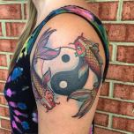 Fascinating Yin Yang Koi Fish