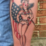 sailor jerry lady flag