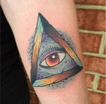 Colorful Triangle Eye