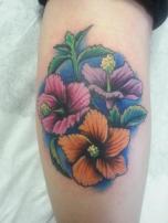 Vibrant Flower Circle