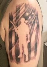 American Flag Soldier