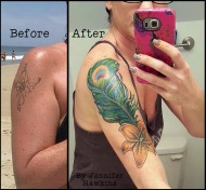 Marvelous Peacock Feather Cover Up