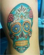Gorgeous Blue Sugar Skull